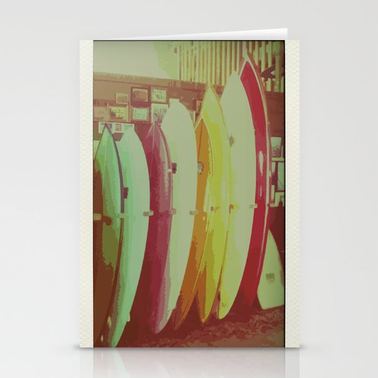 Surfboards Stationery Cards