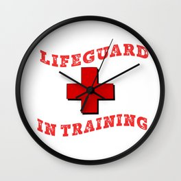 Cute Kids design Lifeguard in Training to wear to pool Wall Clock