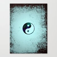 yin yang Canvas Prints featuring Yin & Yang by Mr and Mrs Quirynen