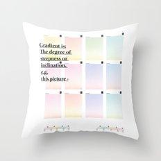 Gradient (English) Throw Pillow