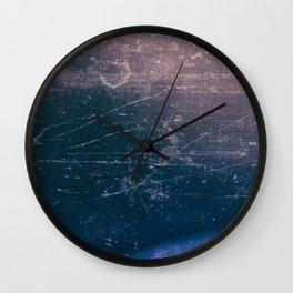 Purple scratch Wall Clock