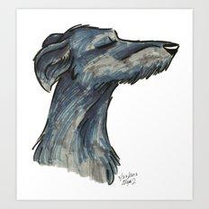 Brush Breeds-Scottish Deerhound Art Print