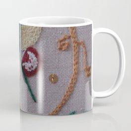 Elizabethan Embroidery Fantasy Flower Coffee Mug