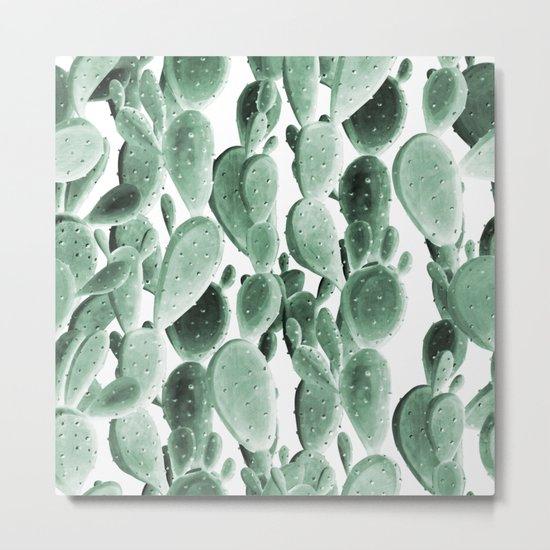 Climbing Cacti Metal Print
