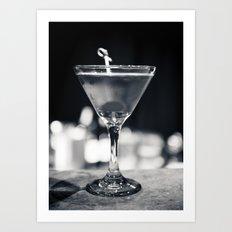 Martini aesthetics Art Print
