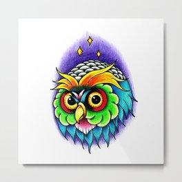 Owl/Parrot Metal Print