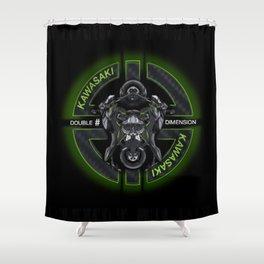 Kawasaki Paradox Double Time Shower Curtain