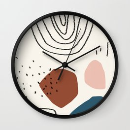 Ocean breathes salty Wall Clock