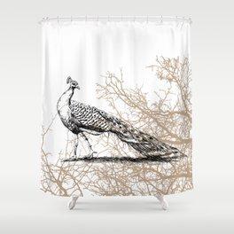 Peacock print Shower Curtain