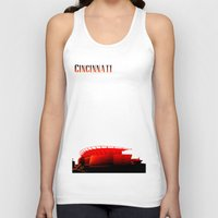cincinnati Tank Tops featuring Cities Of America: Cincinnati  by Brandon sawyer
