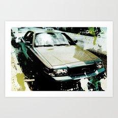 taxi Los Angeles Art Print