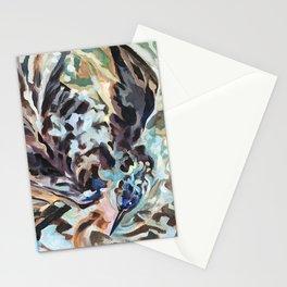 Bathing Grackle Stationery Cards