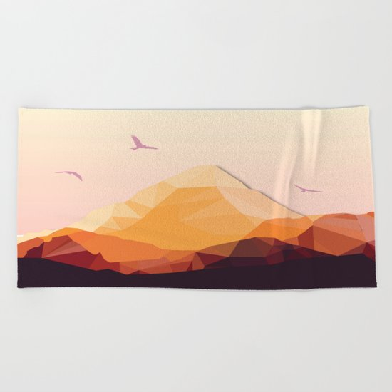 Night Mountains No. 25 Beach Towel