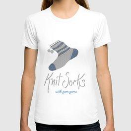 Knit Socks T-shirt
