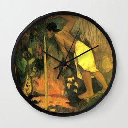 "Paul Gauguin ""Pape Moe Aka (Mysterious Water)"" Wall Clock"