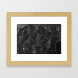 Black Ink Art No 1 Framed Art Print