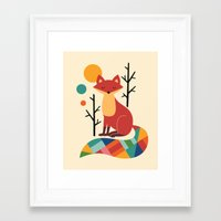 bruno mars Framed Art Prints featuring Rainbow Fox by Andy Westface