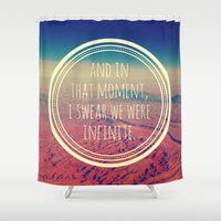 infinite Shower Curtains featuring Infinite by Josrick