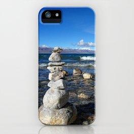 Heavenly Lake Namtso Tibet iPhone Case