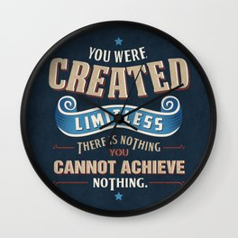 You Are Limitless Wall Clock