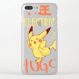 Free electric hugs Clear iPhone Case