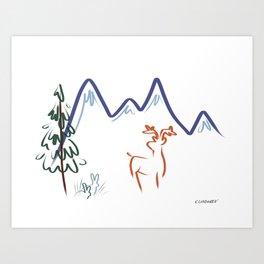 Mountain Air I Art Print