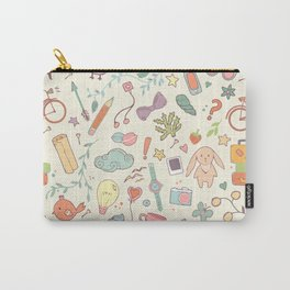 Cute Patt White Carry-All Pouch