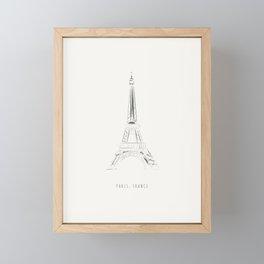 Paris Eiffel Tower Pattern Framed Mini Art Print