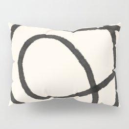 Thick Continuous Line Series 6 | Boho Home Decor, Modern Wall Art, Continuous Line Art, Contour Line Pillow Sham