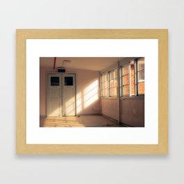 Hospital Hallway Framed Art Print