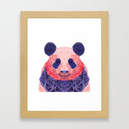 Don't Be Scared To Be Different If You're Already Rare (Panda Animal Painting Stippled Pop Art) Framed Art Print
