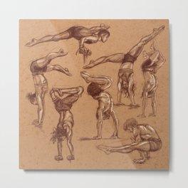 Handstand shapes Metal Print