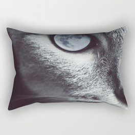 Moon cat Rectangular Pillow