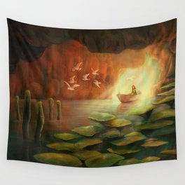 Into the Cave Wall Tapestry