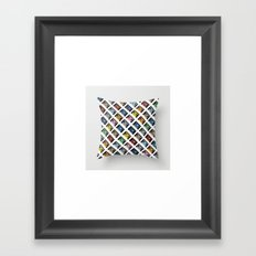 Rainbow Black 45 on White Framed Art Print