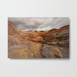 Canyon Overlook - Valley_of_Fire State_Park, Nevada Metal Print