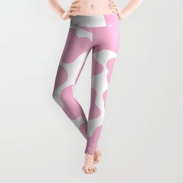 Pink Cow Print Leggings