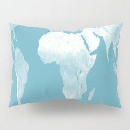 World Map Riverside Blue Pillow Sham