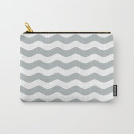 WAVES DESIGN (SILVER-WHITE) Carry-All Pouch