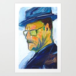 One of a Kind Bryan Cranston Painting as Walter White in Breaking Bad  Art Print