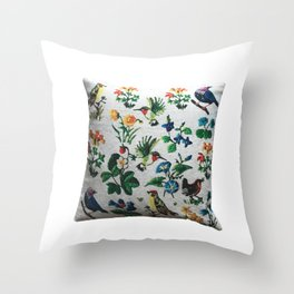 birds on a brach throw pillow Throw Pillow