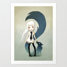 Fox Daemon Art Print
