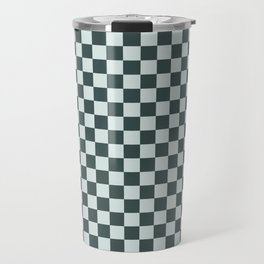 Checkerboard Pattern Inspired By Night Watch PPG1145-7 & Cave Pearl PPG1145-3 Travel Mug