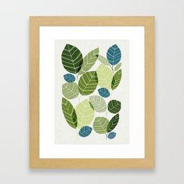 Forest Elements Framed Art Print