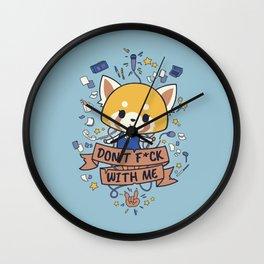 Little but Tough // Cute & Aggresive Red Panda, Aggretsuko, Kawaii Metal Wall Clock