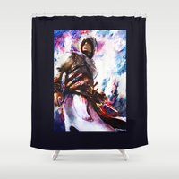 assassins creed Shower Curtains featuring Assassin's Creed.  Altair by ururuty