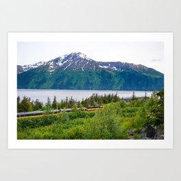 Alaska Passenger Train - Bird Point Art Print
