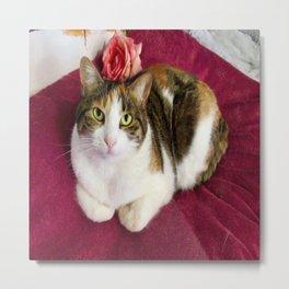 Antigone romantic kitty Metal Print