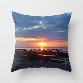Sunset under Stormy Skies Throw Pillow
