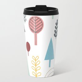 Winter Trees in Color Travel Mug